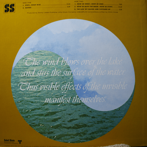 Chick Corea – Now He Sings, Now He Sobs (Ed, Japón)