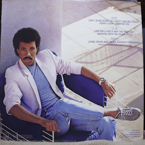Lionel Richie ‎– Can't Slow Down (Ed. Japón)