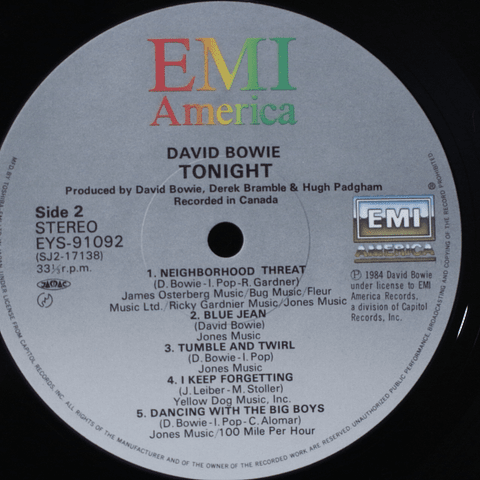 David Bowie – Tonight (Ed. Japón)