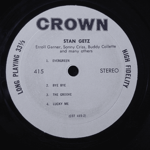 Stan Getz, Erroll Garner – Groovin' High (Ed USA)