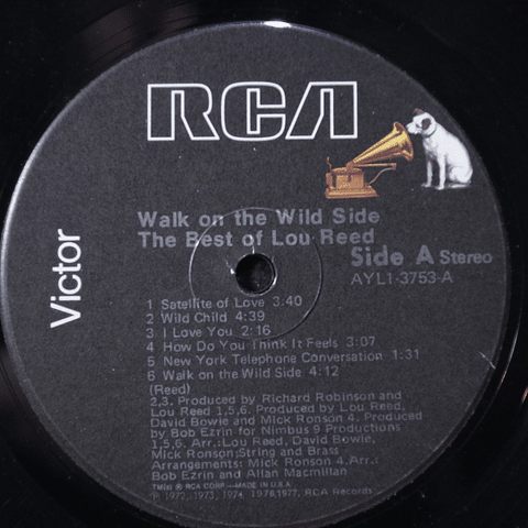 Lou Reed ‎– Walk On The Wild Side - The Best Of Lou Reed (Velvet Underground)
