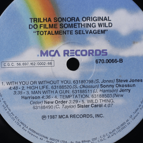 Various ‎– Something Wild - Music From The Motion Picture Soundtrack (David Byrne, New Order, otrs0