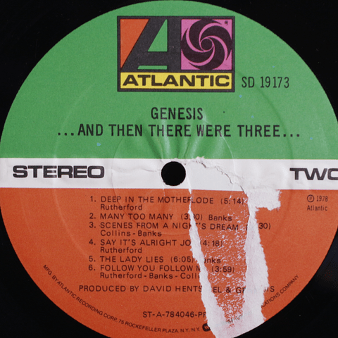 Genesis – ...And Then There Were Three... (1a Ed USA)