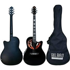 Guitarra Electroacústica Bilbao cuerda metálica BIL-800CE-BK