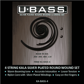 Encordado Ubass Silver Round Wound 4 cuerdas set