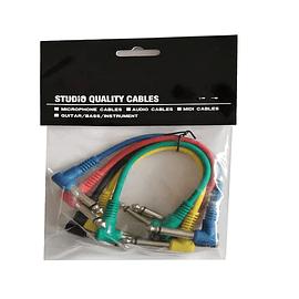 Set 5 cables plug para pedales