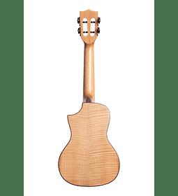 Ukelele Kala Concierto Solid Flame Maple Cutaway