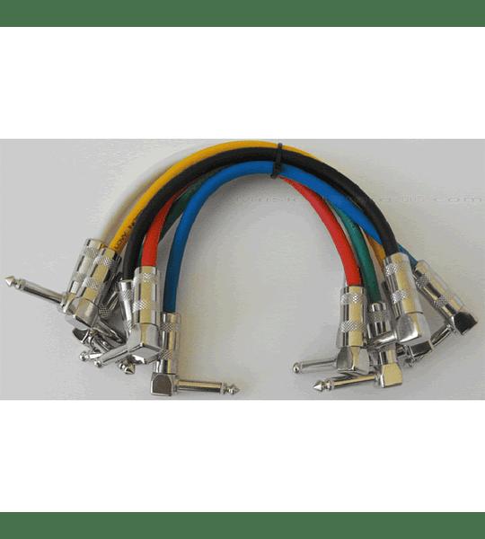 6 unidades Cable de Conexión para Pedales de Efecto