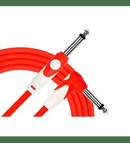 Cable para instrumentos plug-plug 3 mts - color rojo
