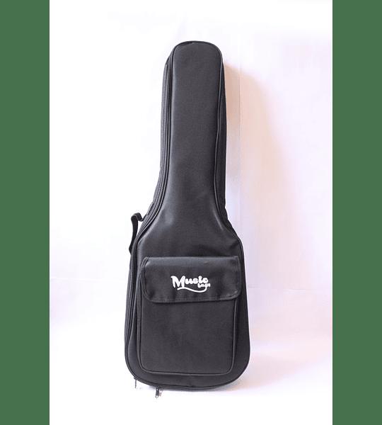 Funda Guitarra Clasica Music Negra Nylon 15MM MUB-122C