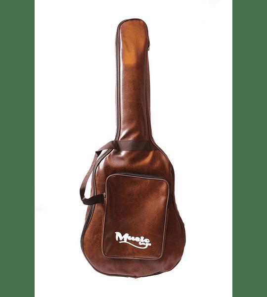 Funda Guitarra Electroacústica Music Cuero 10MM MUB-125A
