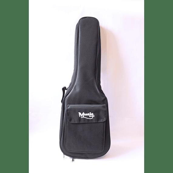 Funda Guitarra Electroacústica Music Negra Nylon 15MM MUB-122A