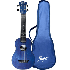 Ukelele Flight Soprano TRAVEL Azul