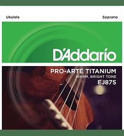 Cuerdas Daddario (Soprano) Titanium DADDARIO