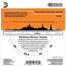 Cuerdas para Ukelele Baritono Titanium D'ADDARIO