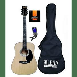 Guitarra Acústica Bilbao BIL-41-NT + Afinador + Cuerdas