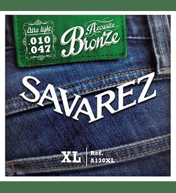 Encordado metálica Savarez A130xl Bronze Extra Light 10/47