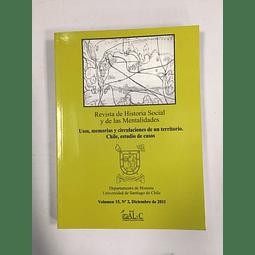 Revista de Historia Social y de las Mentalidades. Volumen 15 nº2 diciembre 2011