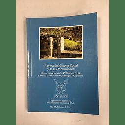 Revista de Historia Social y de las Mentalidades. Año XI volumen 2, 2007