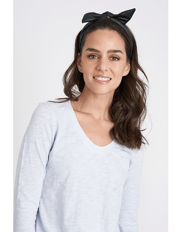 POLERA COTTON FLAME CELESTE CLARO