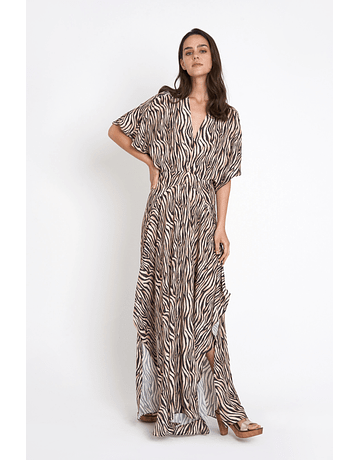 Vestido Zebra largo