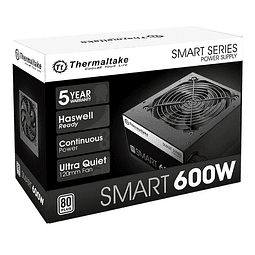 FUENTE REAL 600W 80P SMART - THERMALTAKE
