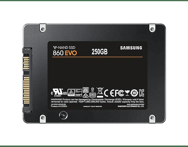 SOLIDO SATA 250GB 860EVO - SAMSUNG