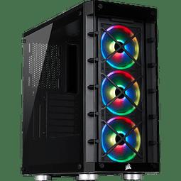 ICUE CRYSTAL 465X BLACK + 3 + FANS RGB - CORSAIR
