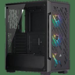 ICUE 220T AIRFLOW BLACK + 3 FANS RGB - CORSAIR