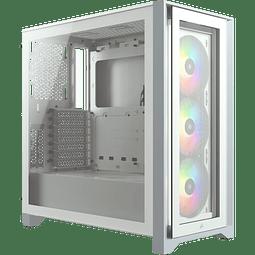 ICUE 4000X WHITE + 3 FAN RGB - CORSAIR