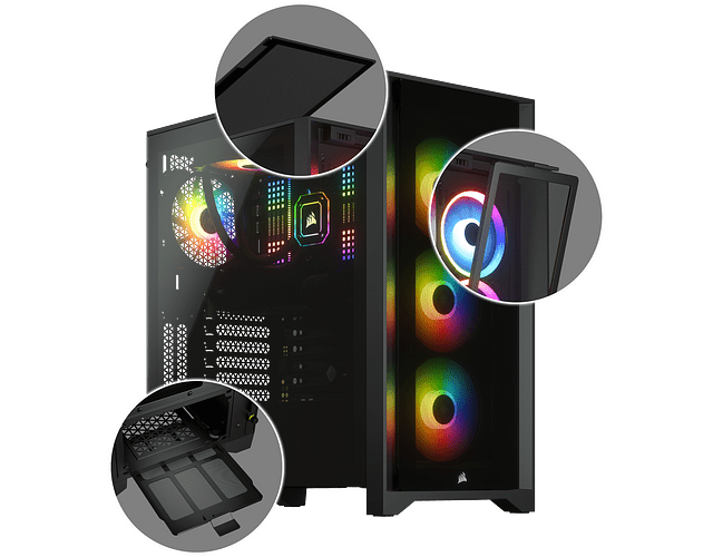 ICUE 4000X BLACK +3 FAN RGB - CORSAIR