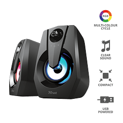 PARLANTES MULTI RGB 2.0 ZIVA - GXT