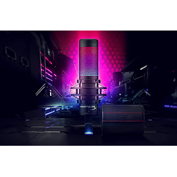 MICROFONO QUADCAST PROFESIONAL RGB - HYPERX