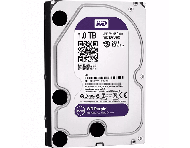 DISCO 1 TERA PC / 64MB / 7200RPM - WESTERN DIGITAL PURPURA