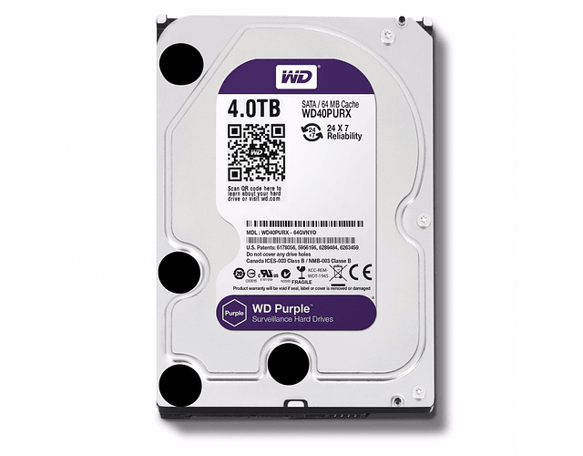 DISCO 4 TERAS PC / 64MB / 7200RPM - WESTERN DIGITAL PURPURA