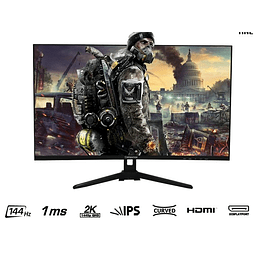 "CMAX 32"" 2K IPS CURVO (144HZ-1MS-D.P-HDMI)"