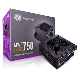 FUENTE REAL 750W 80P BRONZE - COOLER MASTER