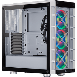 ICUE CRYSTAL 465X WHITE + 3 + FANS RGB - CORSAIR