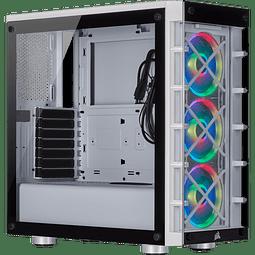ICUE CRYSTAL 465X WHITE +3 FANS RGB - CORSAIR
