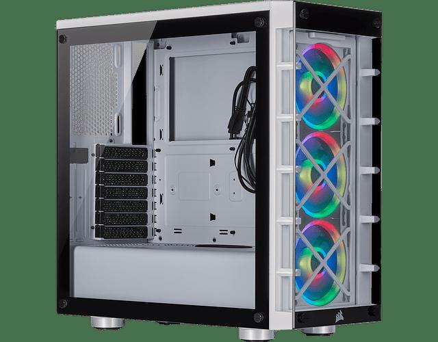 ICUE CRYSTAL 465X / RGB - BLACK / WHITE - CORSAIR