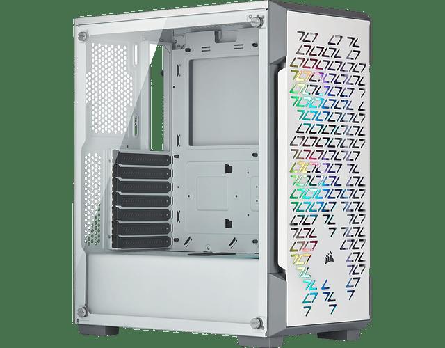 ICUE 220T WHITE / BLACK / VID.TEMP +3 FANS RGB - CORSAIR