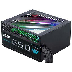 FUENTE REAL 650W 80P BRONZE RGB - AZZA