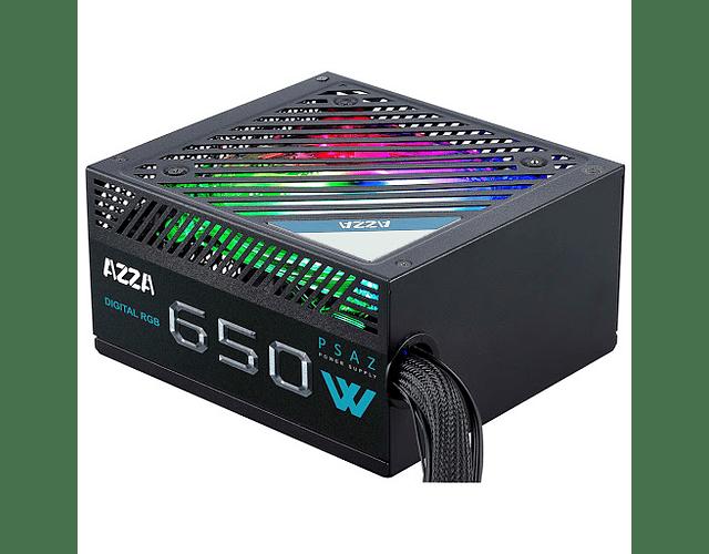 FUENTE REAL 650W 80 PLUS BRONZE RGB - AZZATEK