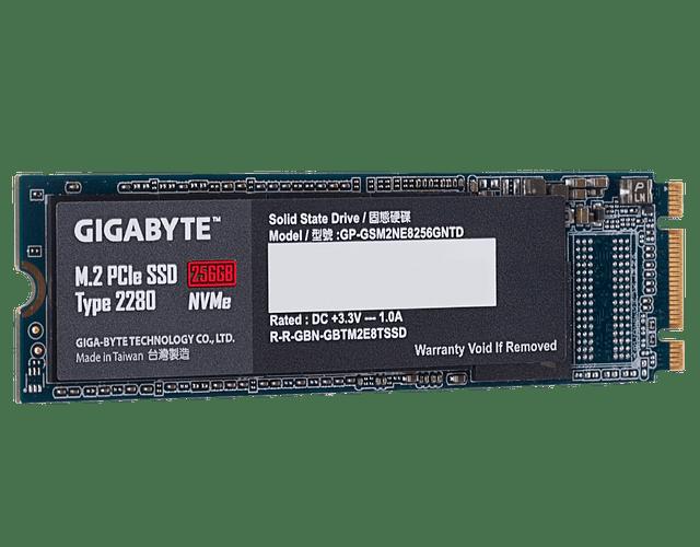 SOLIDO (M2) NVMe 256GB - GIGABYTE