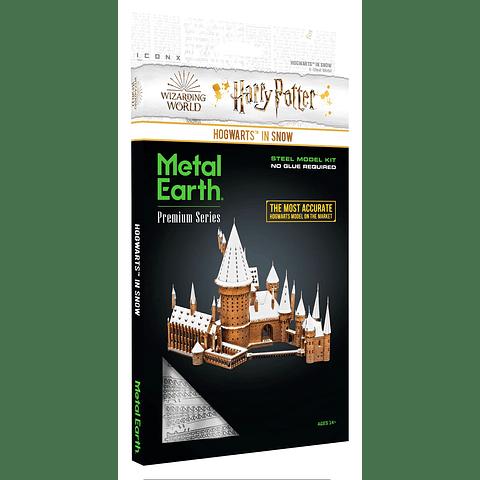 Castillo de Hogwarts en la nieve Premium Size