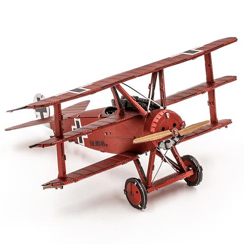 Avión Fokker Rojo Triplano del Baron Von Richthofen