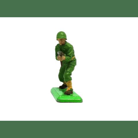 Soldado de los Estados Unidos con ametralladora. WWII