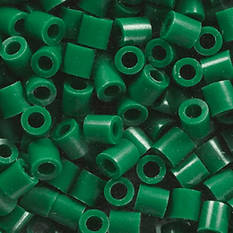 500 Perler verde oscuro