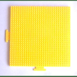 Base cuadrada grande amarilla