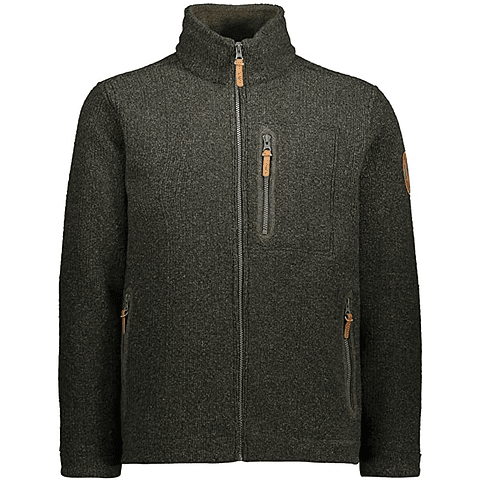 WOLL JACKET OIL GREEN CMP